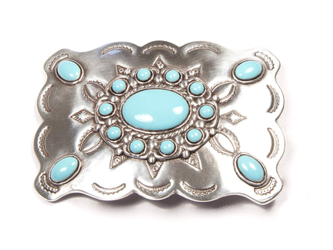 "''Dream in Turquoise"" Theme Belt Buckle"