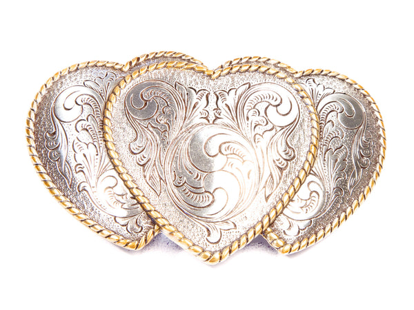 """Three of Hearts""Theme Belt Buckle"