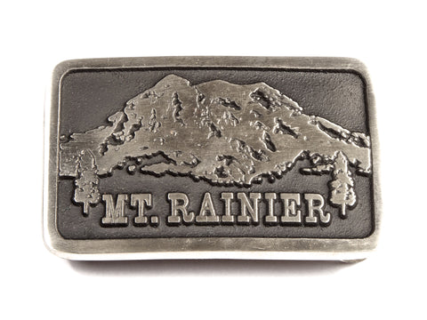 "Handmade ""Mt. Rainier"" Theme Belt Buckle"