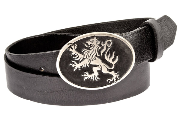 """Rampant Lion"" Theme Buckle/ Belt Combination"