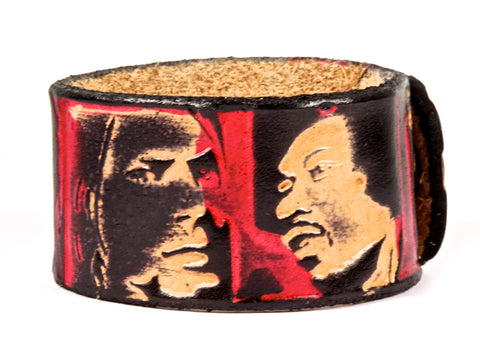 "Handmade Leather Wristband-""Dead Rockstars"""