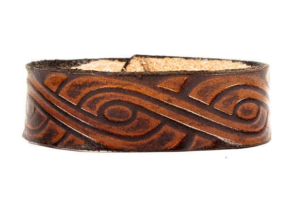 "Handmade ""Celtic Swirl"" Leather Wristband"