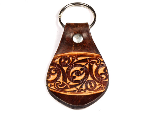 "Handmade ""Gaelic"" Leather Key Chain"