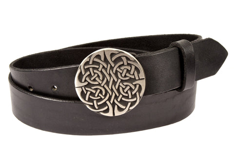 """Celtic Knot Crest"" Theme Buckle/ Belt Combination"
