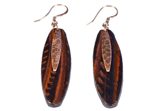 "Handmade ""Birch Tree"" Leather Earrings"
