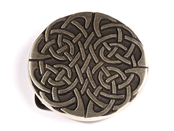 "Handmade ""Celtic Knot Crest"" Belt Buckle"