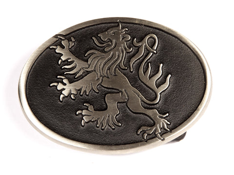 "Handmade ""Rampant Lion"" Belt Buckle"