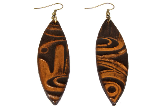 "Handmade ""Sapience"" Leather Earrings"