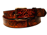 "Handmade Leather Belt-""American Eagle"""
