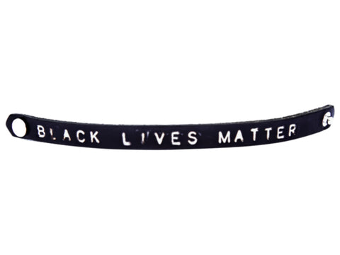 Black Lives Matter Leather Wristband