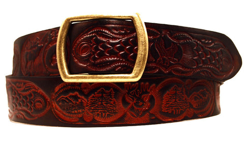 "Handmade Leather Belt-""Big Country"" (1.75'')"