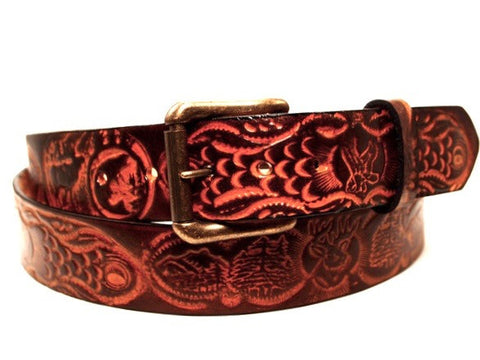"Handmade Leather Belt-""Big Country"""