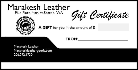 Marakesh Leather Gift Card