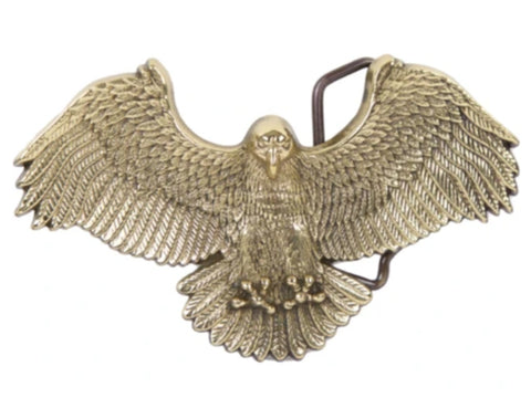 """Soaring Brass Eagle"" Theme Belt Buckle"