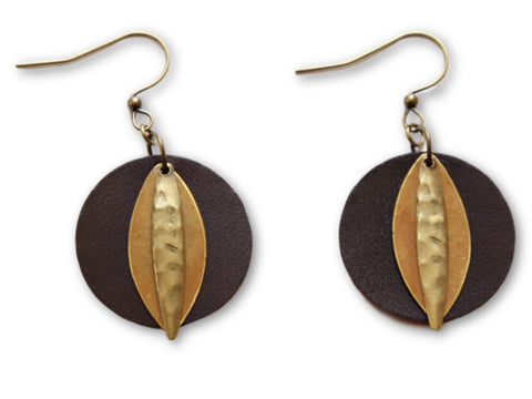 "Handmade ""Mother Nature's Son"" Leather Earrings"
