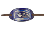 Seahawks Leather Hair Barrette