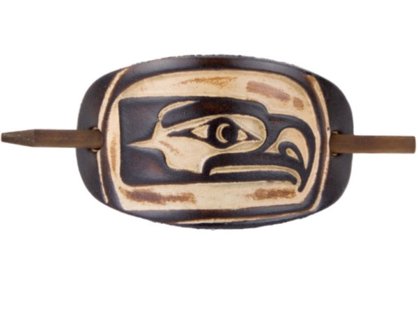 Classic Seahawks Leather Hair Barrette