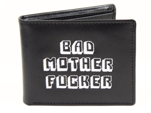 """The Badest Wallet Around""- Black"