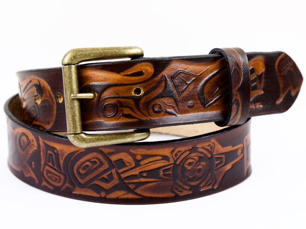 Coastal Creatures Leather Belt