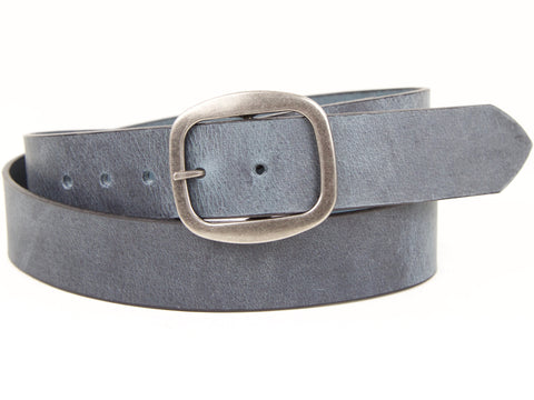 "Handmade Leather Snap On Belt-""Dancing in Denim"""