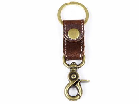 Leather Key Fob | Chocolate Brown