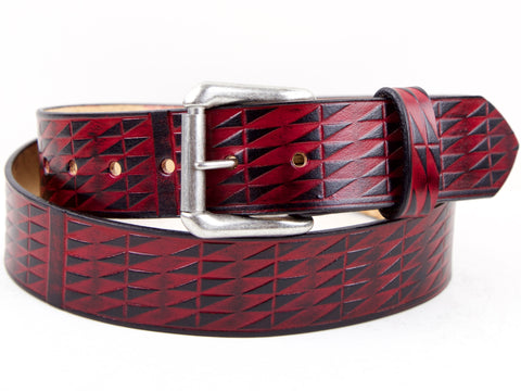 Southwestern Basketweave Leather Belt