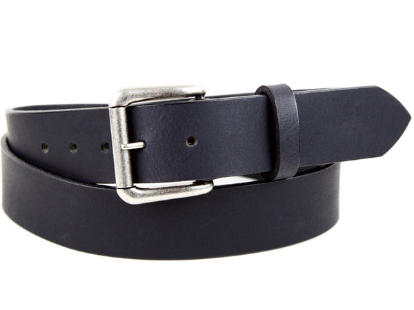 "Handmade Leather Belt-""Matte Black"""
