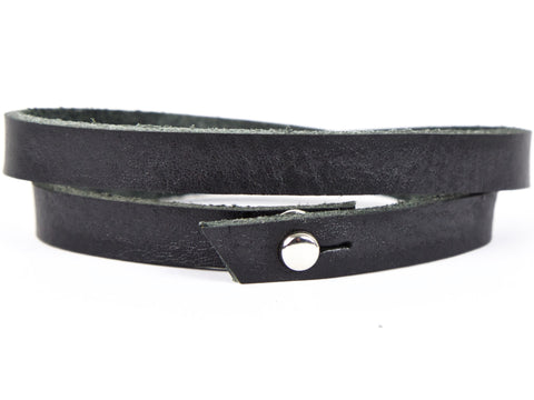 "Handmade Leather Wristband-""Double Wrap"""