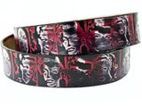 "Handmade Leather Belt-""Divas"""