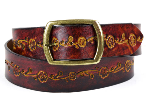 "Handmade Leather Belt-""La Belle"" (1.75"")"