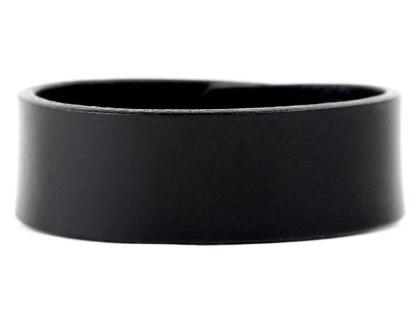 "Handmade Leather Wristband-""Black Latigo"""