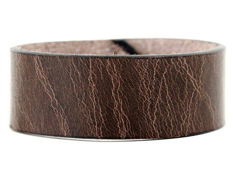 "Handmade Leather Wristband-""Distressed Brown"""