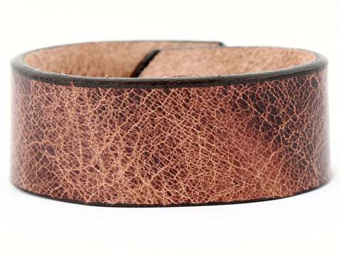 "Handmade Leather Wristband-""Distressed Tan"""