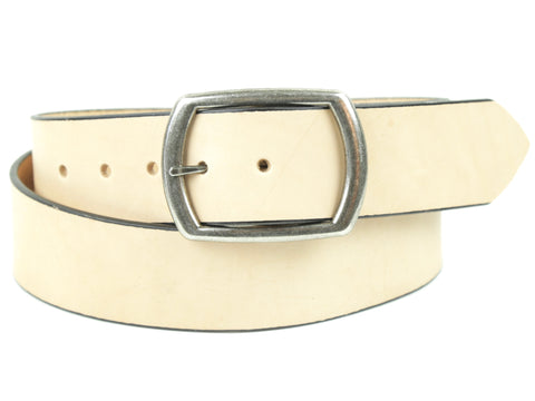 "1.75'' Handmade Leather Belt-""Natural''"