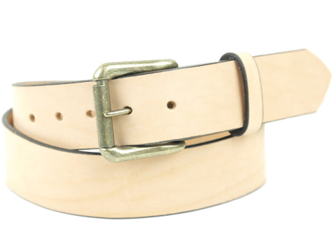 "Handmade Leather Belt-""Natural"""