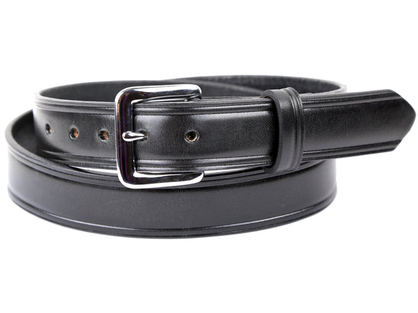 Handmade Black Bridle Leather Dress Belt