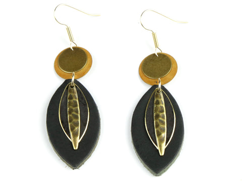 "Handmade ""Empower"" Leather Earrings"