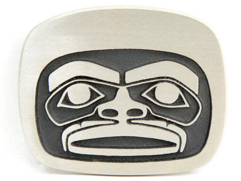 "Handmade ""Tlingit Man"" Belt Buckle"