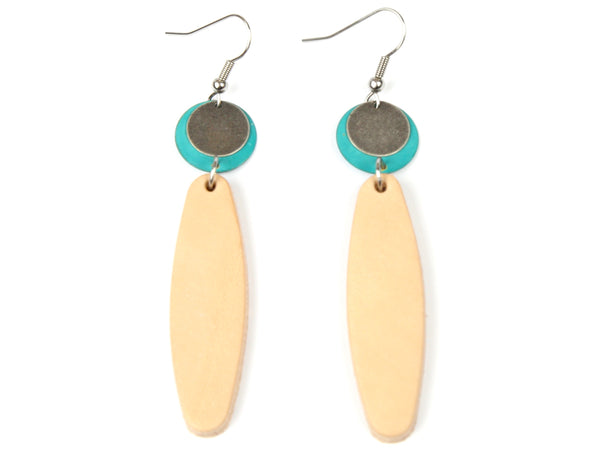 "Handmade ""Piel"" Leather Earrings"
