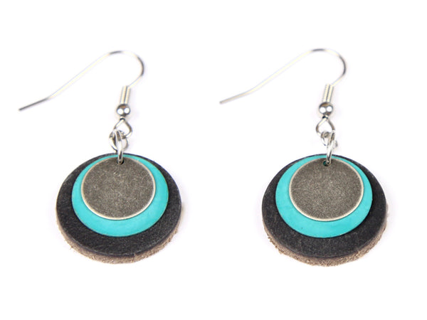 "Handmade ""Patina"" Leather Earrings"