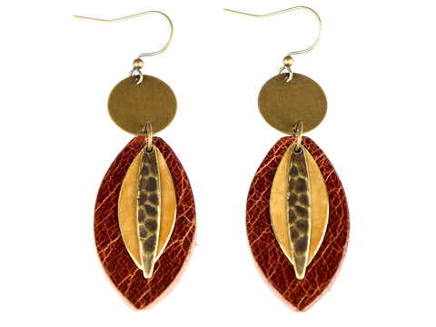 "Handmade ""Sol"" Leather Earrings"