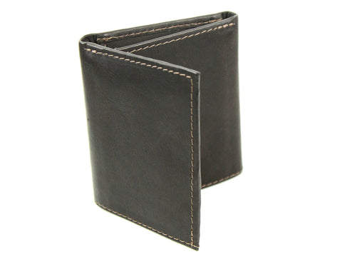 Classic Tri-Fold Leather Wallet