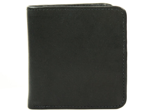 Wide Bi-Fold Leather Wallet