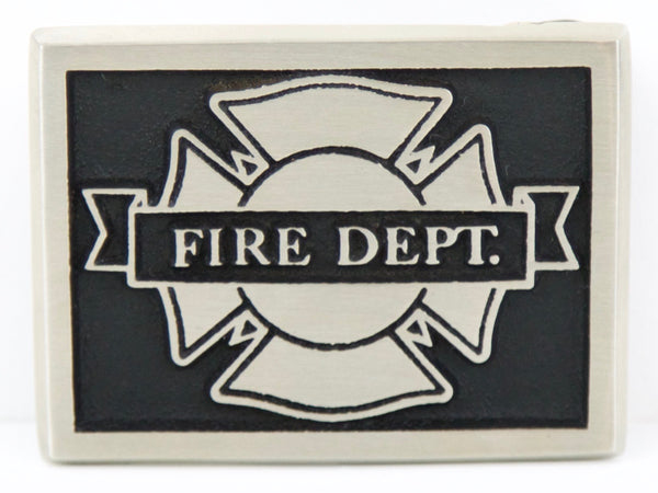 "Handmade ""Fire Department"" Belt Buckle"
