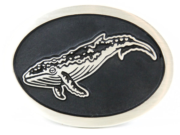 "Handmade ""Humpback Whale"" Belt Buckle"