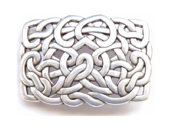 """Celtic Interlace Rectangle"" Theme Belt Buckle"