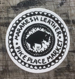 Marakesh Leather Logo Sticker