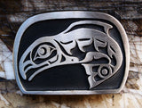 "Handmade ""Spawning Salmon"" Belt Buckle"