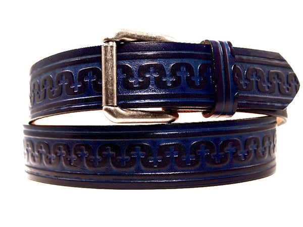 "Handmade Leather Belt-""Templar"""
