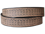 "Handmade Leather Belt - ""Concentric Circles"""